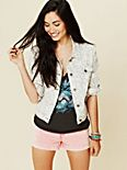 Animal Printed Denim Jacket