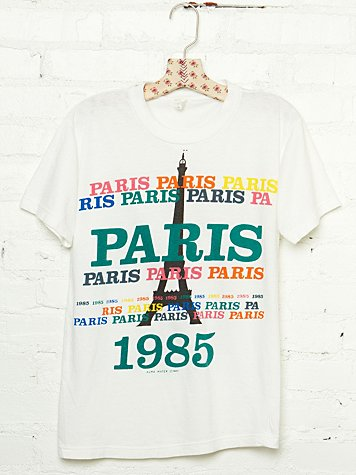 Free People Vintage 1985 Paris Graphic Tee
