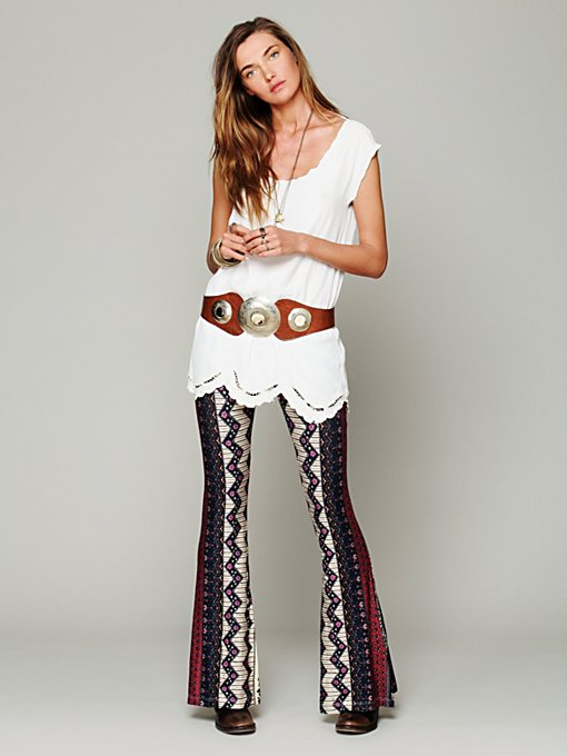 Novella Royale Border Print Bell Bottoms in wide-leg-pants