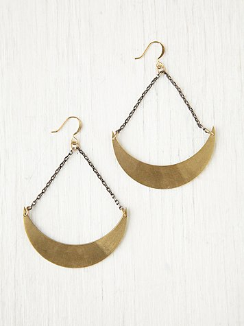 Ax + Apple Crescent Earrings