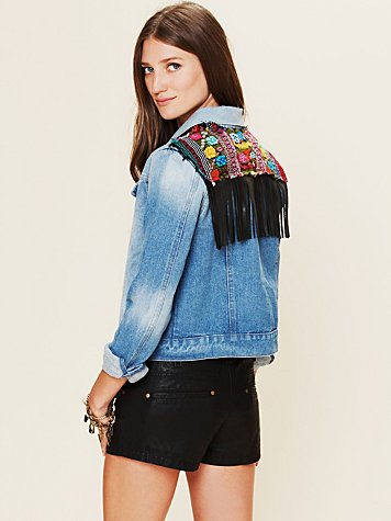 Jen's Pirate Booty Fringe Denim Jacket