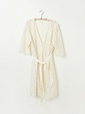 Harvard Lace Robe in Intimates-slips-bed-jackets-robes-nighties