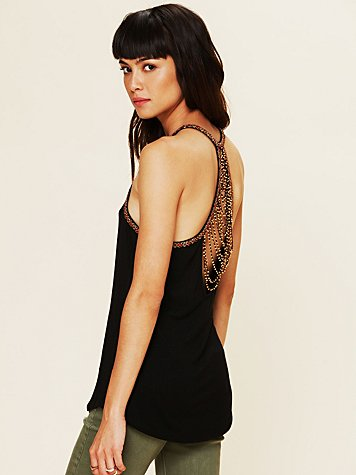 Free People Desert Island Beaded Tank