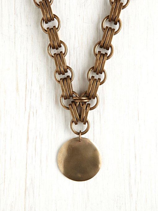 Annie Costello Brown Heavy Chain Medallion in jewelry