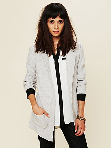 Poetic Verse Sweater Blazer