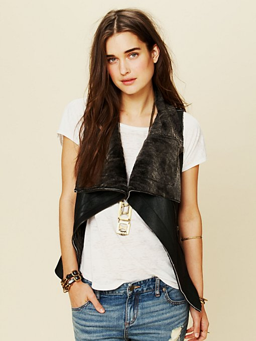 Muubaa Leather Vest in Jackets
