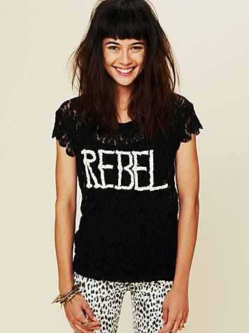 Free People Rebel In Lace Tee