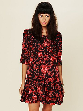 Free People Floral Print Shapeless