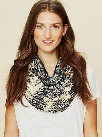 Free People Woven Metallic Scarf