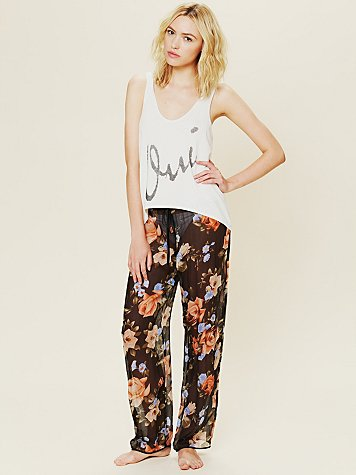 La Fee Verte Sheer Floral Bottoms