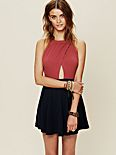 Colorblock and Crosses Dress