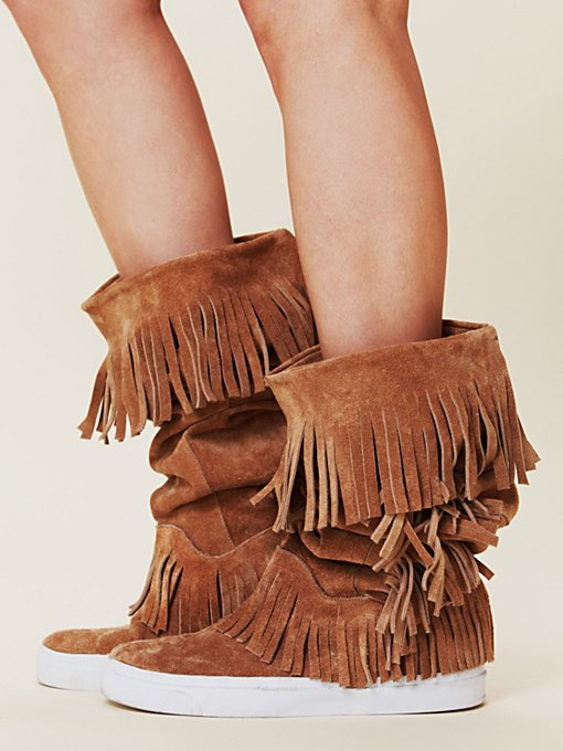 Jeffrey Campbell + Free People Sedona Sneaker Mocc Boot in ankle-boots