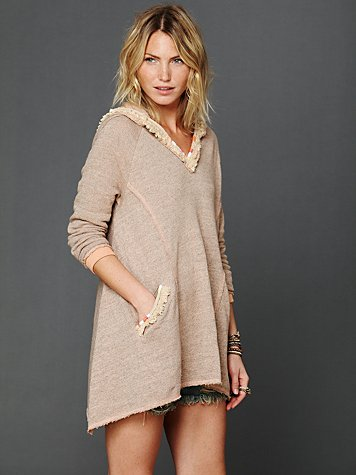 Free People Hooded Swing Pullover