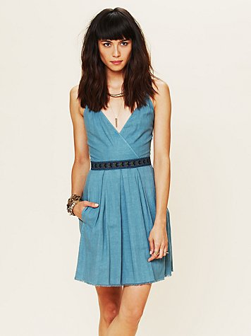Free People All Washed Up Denim Dress