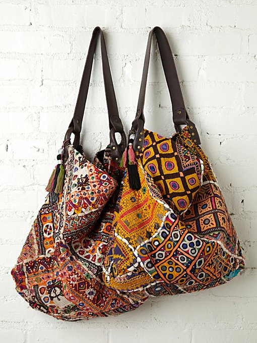Free People Vintage Tapestry Tote in handbags
