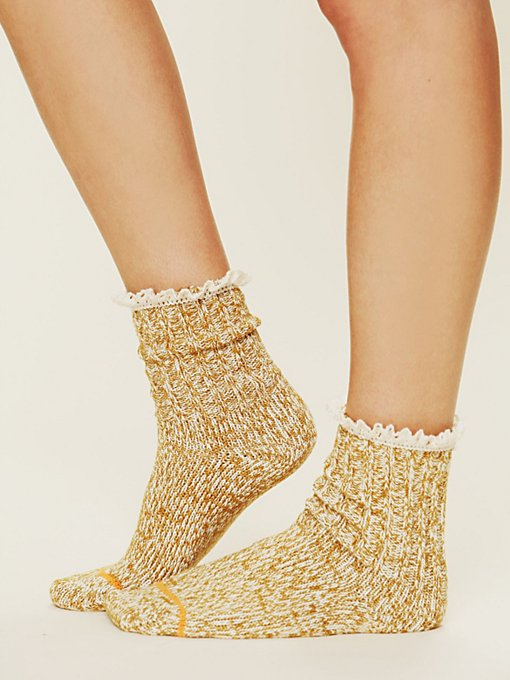 Heathered Highland Boot Sock in accessories-legwear-ankle-socks