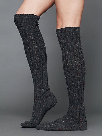 Free People Speckled Spun Tall Sock