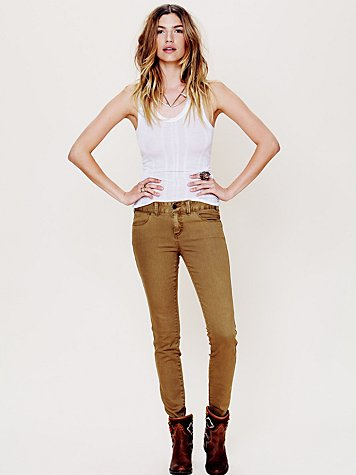 Free People Colored Skinny Jean