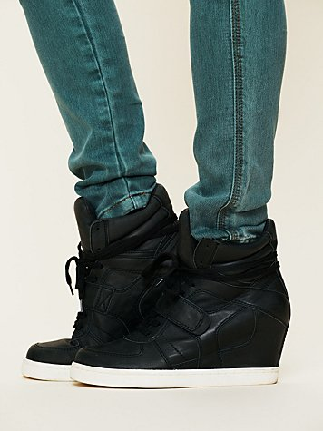 Ash Cool Nappa Wedge Sneaker