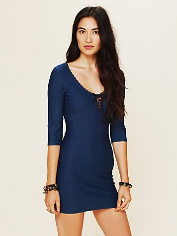 Lace-Up Bodycon