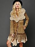Embroidered Sheepskin Jacket