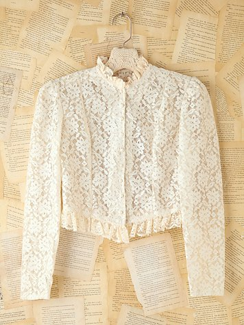 Free People Vintage Lace Long Sleeve Top