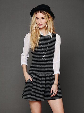 Free People Double Knit Dropwaist Dress