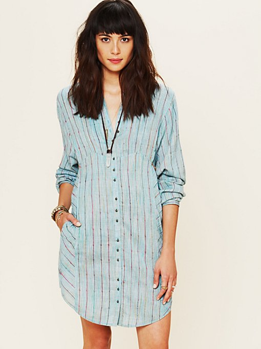 FP New Romantics Indigo Shades Shirt Dress in sale-all-sale