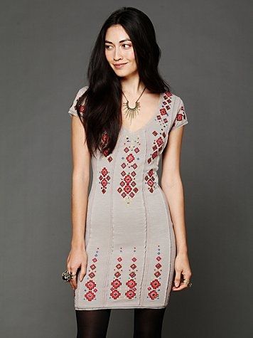 Free People Rich in Embroidery Dress