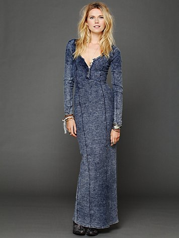 Free People Ginger Seam Column Dress