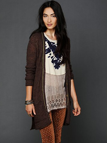 Free People Pop Stitch Cardigan