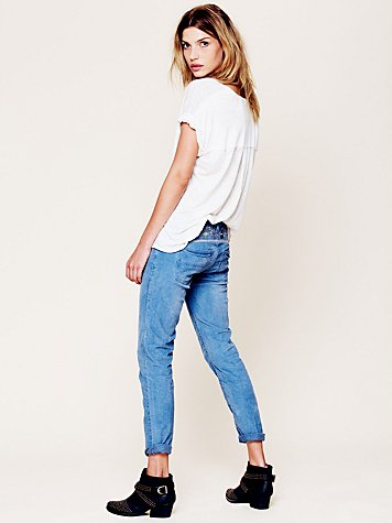 5 Pocket Floral Cord Skinnies