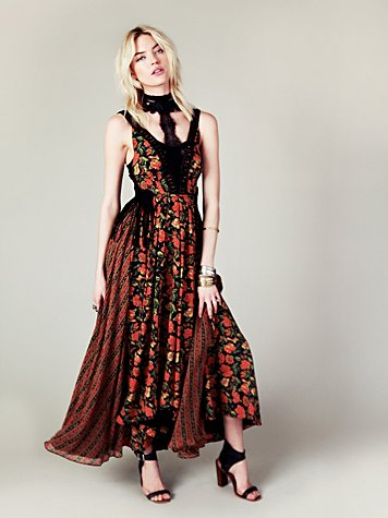 Free People FP New Romantics Black Magic Dress