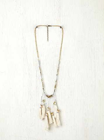 Multi Thread Tassel Necklace
