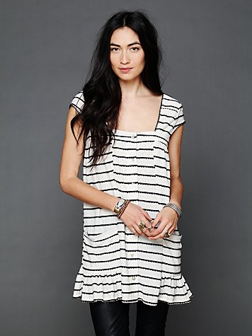 FP Beach Cap Sleeve Buttondown Dress
