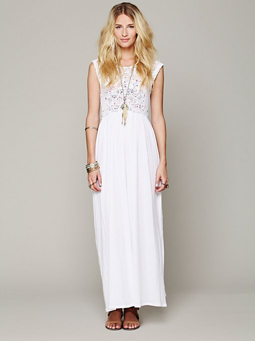 Nightcap Isobel Crochet Maxi Dress in lace-skirts