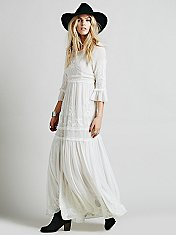 White Romance Embroidered Maxi