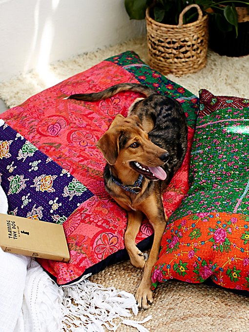 Free People FP One Quilted Dog Bed in Pet-Beds