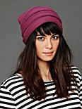 Stripe Ruched Slouch Hat
