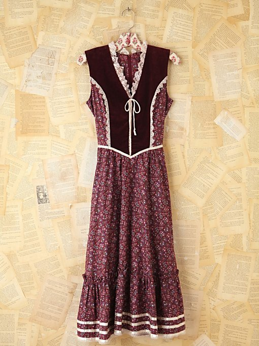 Vintage Maroon Velvet Dress in Vintage-Loves-dresses