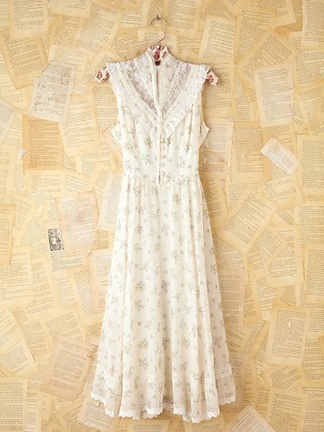 Free People White Floral Maxi Dress