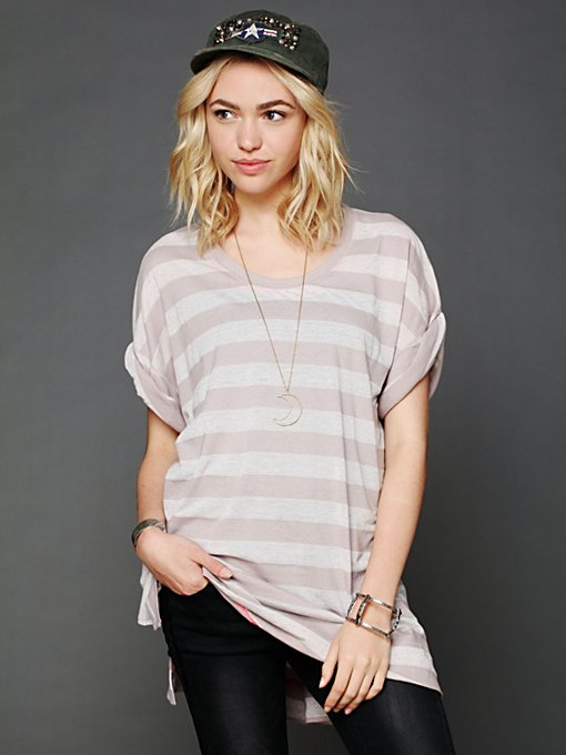 Free People In Every Direction Tunic in Oversized-Tees