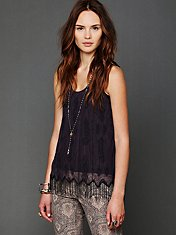 Beaded Fringe Flapper Tank