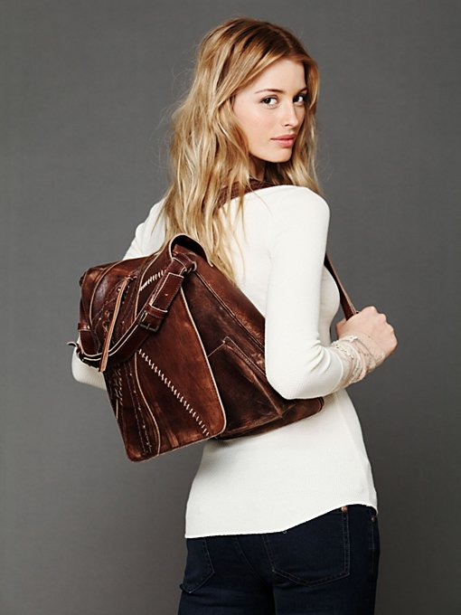 Excelsior Leather Corset Backpack in backpacks
