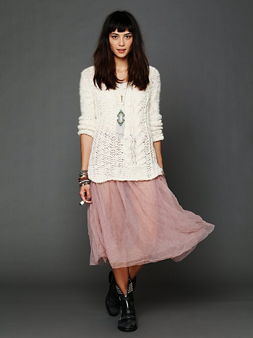 Raw Tulle Skirt