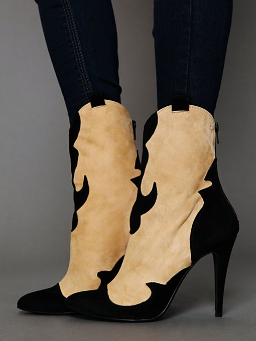Carousel Heel Boot in sale-sale-under-50