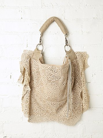 Phillip & Lillian Ripped Lace Hobo