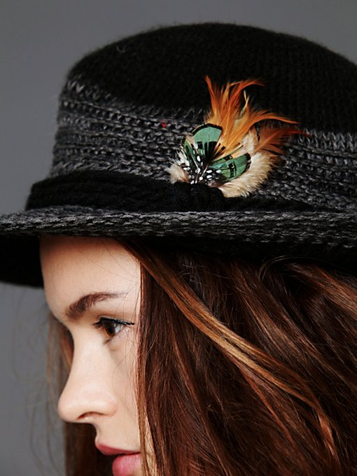 Feather Trim Fedora
