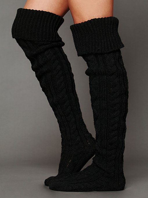 Hilary Cable Thigh Hi in accessories-legwear-tall-socks