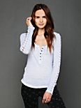 Shell Stitch Lace Henley
